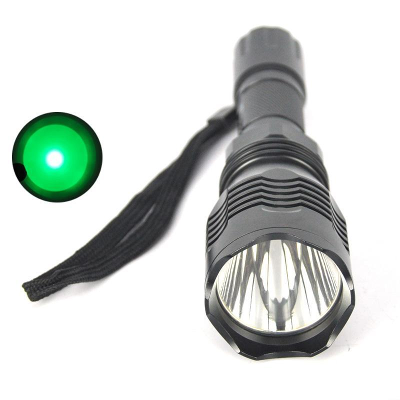 Costbuys  XPE Q5 LED Flashlight Green Light Portable Camping Hunting Lantern Waterproof Outdoor Tactical Torch Light 18650 Batte