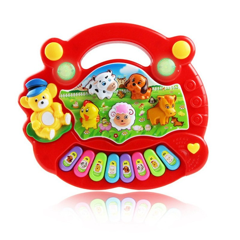 Costbuys  Baby Kids Musical Educational Animal Farm Piano Developmental Music Toy Great Learning Instrument Tools - RD