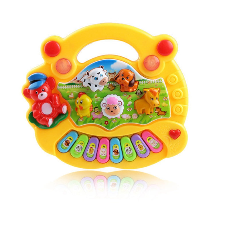 Costbuys  Baby Kids Musical Educational Animal Farm Piano Developmental Music Toy Great Learning Instrument Tools - YW