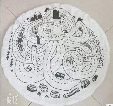 Costbuys  Baby Play Games Mats Soft Baby Carpet Rug Geometric Octopus Print Infantil Newborn Bedding Room Toys Kids Gift Blanket