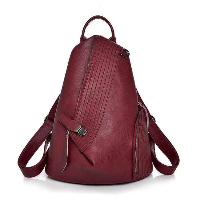 Costbuys  Backpack Women New Casual PU Soft Leather School Shoulder Bags for Teenage Girls Large Capacity Brand Travel Bag Femal