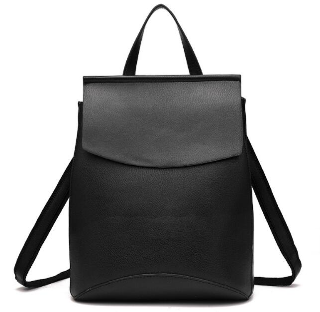 Costbuys  Backpack Women Good Quality PU Leather Women Backpack Casual Student School Backpacks Fashion Travel Backpacks - black