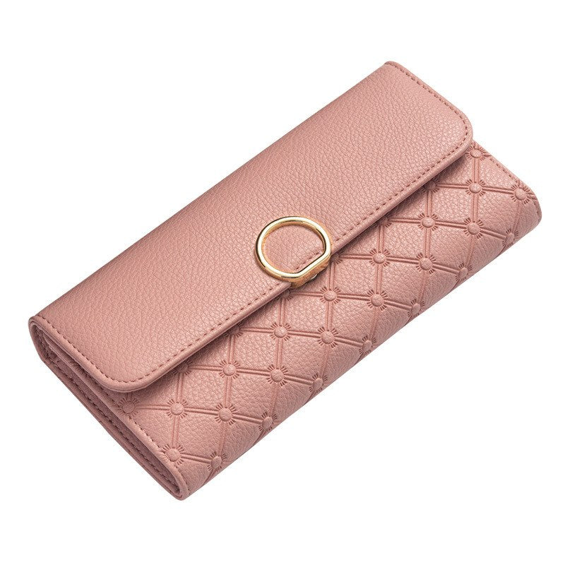 Costbuys  Fashion Women Wallets Plaid Design Long Wallet High Quality PU Leather Ladies Purse Card Holder Coin Purse carteira -