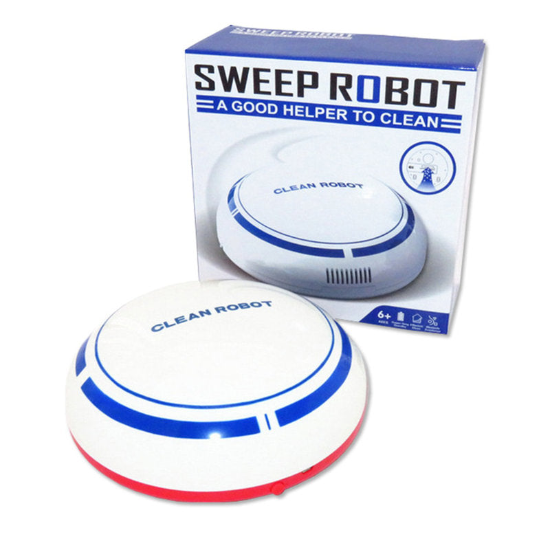 Costbuys  Smart Home House Mini Smart Robot Cleaner Powerful Suction Smart Clean Wall Edge Smart Electronics - White