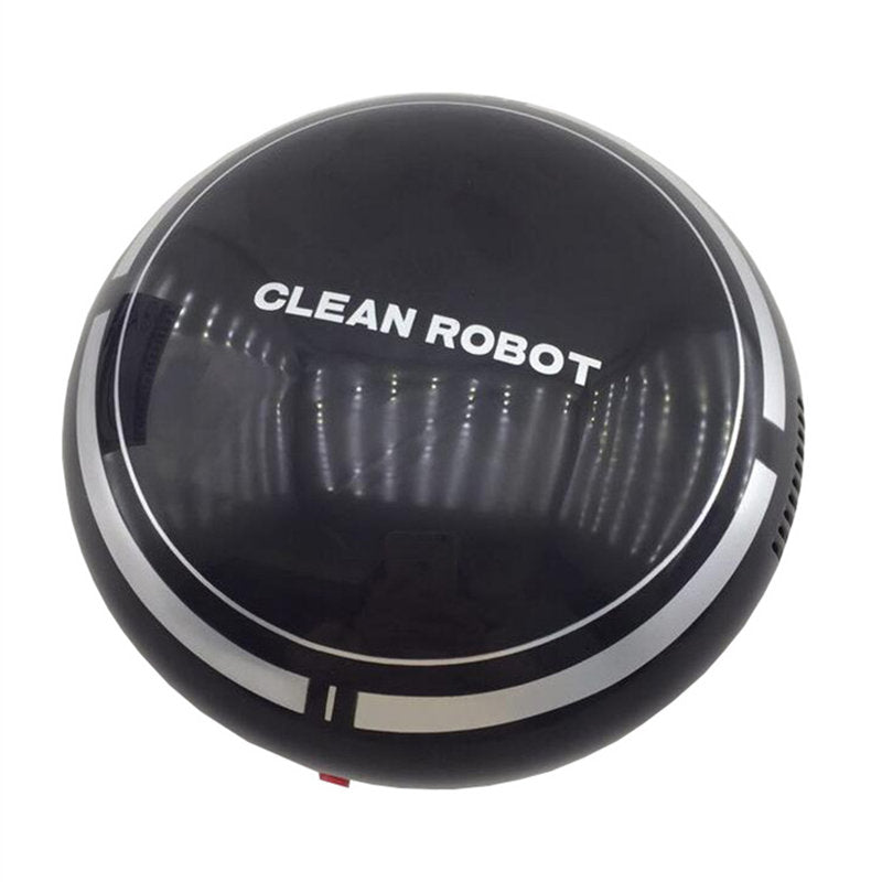 Costbuys  Smart Home House Mini Smart Robot Cleaner Powerful Suction Smart Clean Wall Edge Smart Electronics - Black