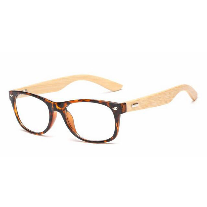 Costbuys  Bamboo Handmade Vintage Rivets Eyeglasses Frame Men's Retro Wooden Glasses Frame Women's Classic Myopia Optical Frame
