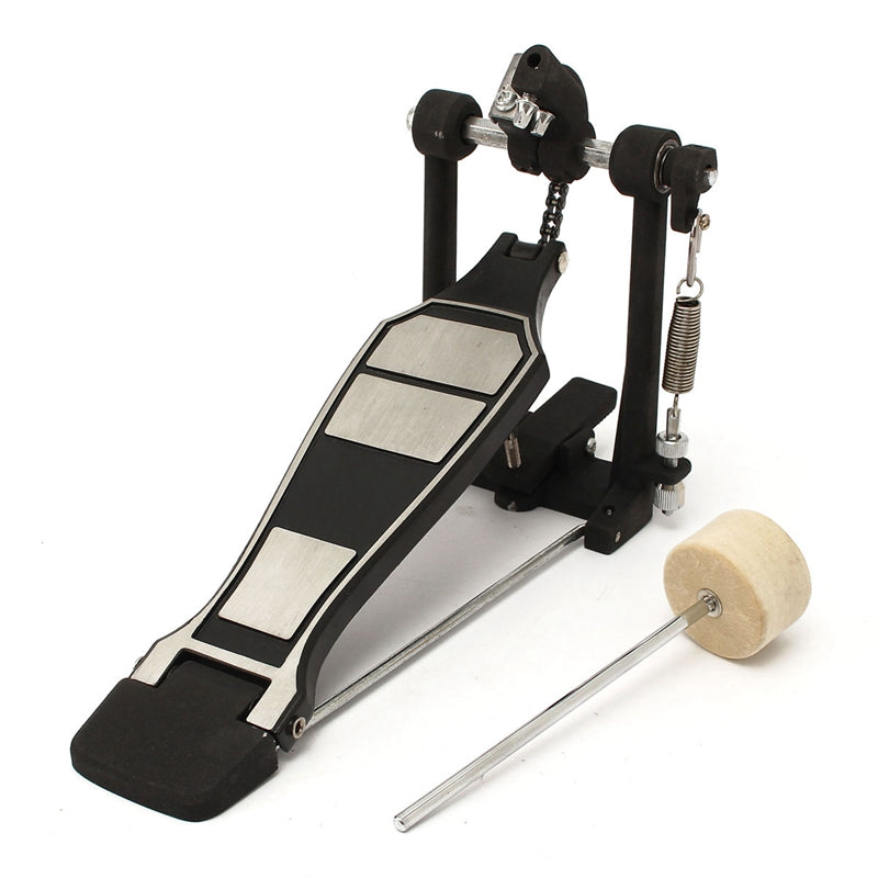 Costbuys  Bass Drum Pedal Beater Singer Tension Spring and Single Chain Drive Percussion Instrument Parts And Accessories - Blac