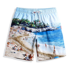 Beach shorts men praia bermudas swimwear quick dry sweat liner siwmming trunks plavky swimsuits mens surfing board shorts