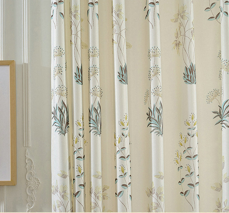 Costbuys  Beauty Flora curtains for Bedroom/ Living Room/Kitchen Tulle Curtain Window Treatment Customize - curtain / 100 cm W x