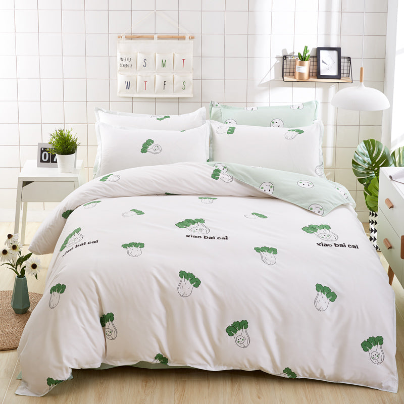 Costbuys  Bedding Set  Wholesale high quality 6 size Bedding Set duvet cover + Bed sheet+Pillowcase Fashion house  luxury bed co