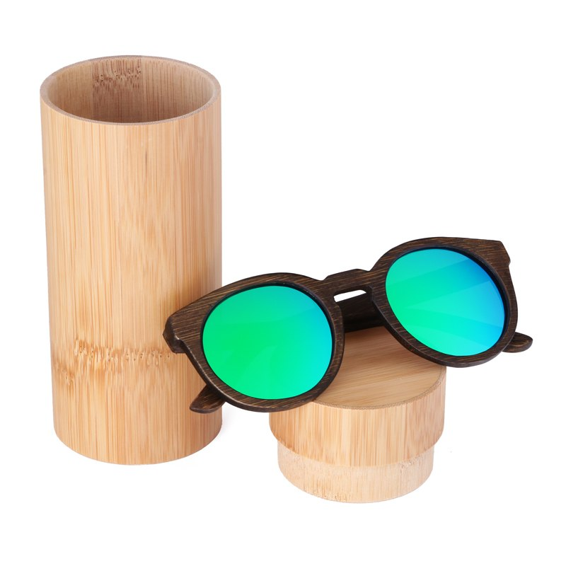 Costbuys  Sun glasses for men and women polarized fashion wooden sunglasses high quality bamboo frame in stock - green lens with