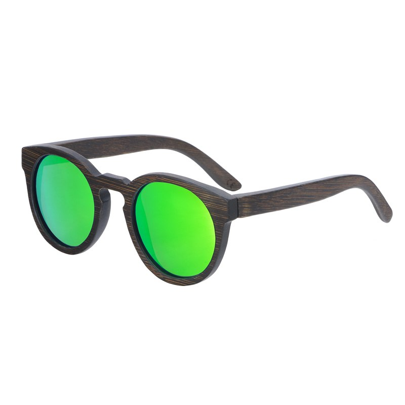Costbuys  Sun glasses for men and women polarized fashion wooden sunglasses high quality bamboo frame in stock - green lens