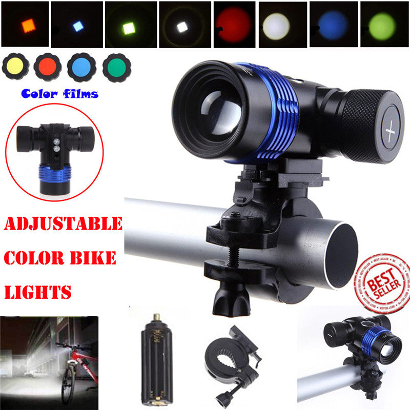 Bicycle Light Cycling Front headlight XML T6 LED 3Modes 18650 Charger Battery Bicycle Bike Head Light Torch Flashlight #^