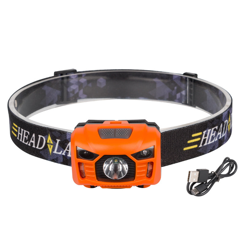 Costbuys  Body Motion Sensor Headlamp Induction USB Rechargeable Headlight 2 Switch Modes Head Flashlight Torch lamp For Camping
