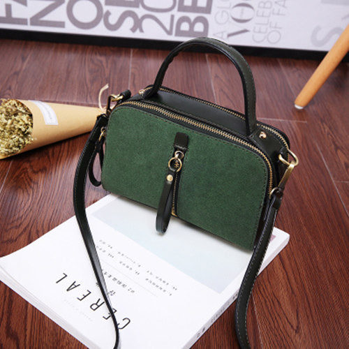 Costbuys  New Korean Ladies Fashion Bags Vintage PU Leather Women Handbag Small Shoulder Bag Crossbody Bag - green