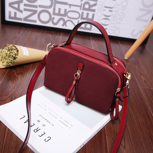 Costbuys  New Korean Ladies Fashion Bags Vintage PU Leather Women Handbag Small Shoulder Bag Crossbody Bag - Burgundy
