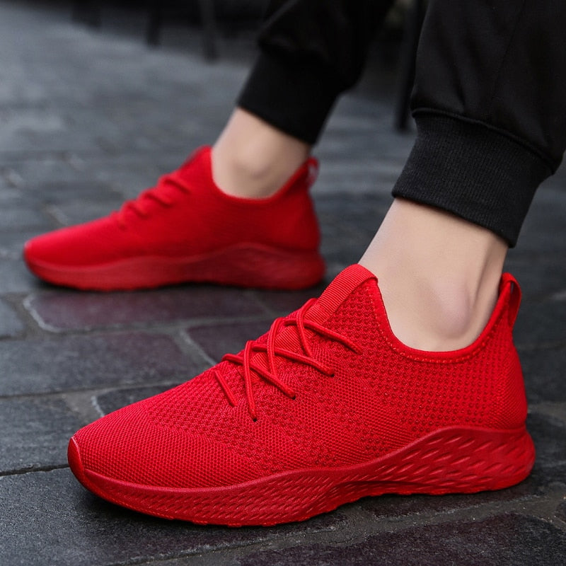 Costbuys  New Outdoor Running Shoes For Man Hot Sell Sport Shoes Red Black Men Sneakers Zapatos corrientes de verano White 1 - R