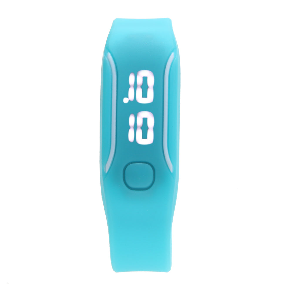 Costbuys  Boys Girls Sports Watch Men Digital Watch Rubber Band LED Watch with Backlight reloj digital hombre relogio - sky blue