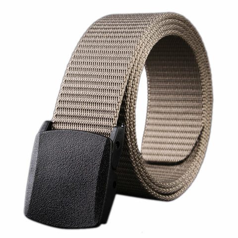 New Arrival Real Striped Adult Fashion Men Free Leather Belt Ultra Long 140 Canvas Belt Man Automatic Buckle Strap Knitted
