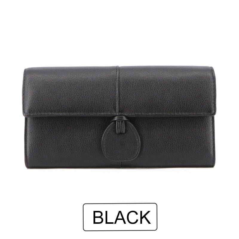 Costbuys  Design Large Capacity Card Wallets Female Soft Leather Long Clutch Wallets For Women Fashion Ladies Purse NEW - Black