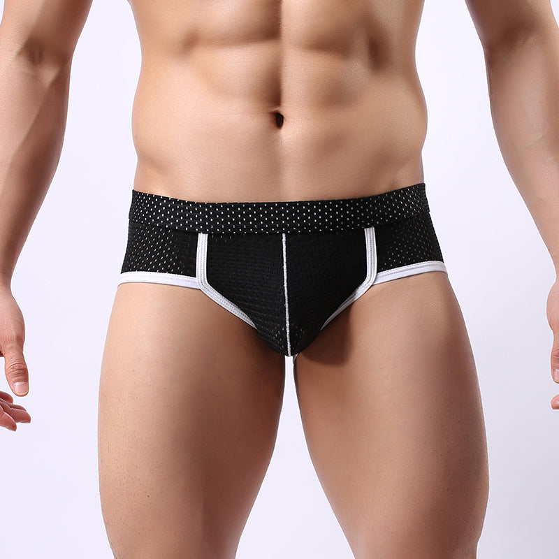 4081b48ffb4 Breathable Mens Briefs Low Waist Transparent Underwear Lot Bulge Pouch Slip  Homme Sexy Gay men Mesh