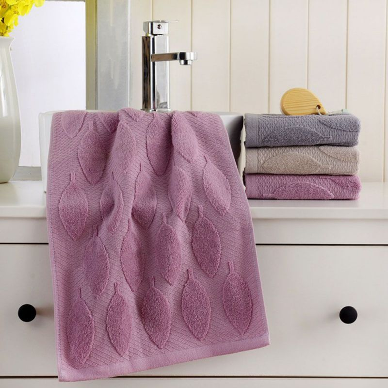 Face Towel Starfish Leaves Pattern Absorbent Towel for Bathroom and Gym Soft Face Towels Bath Products 2Pcs