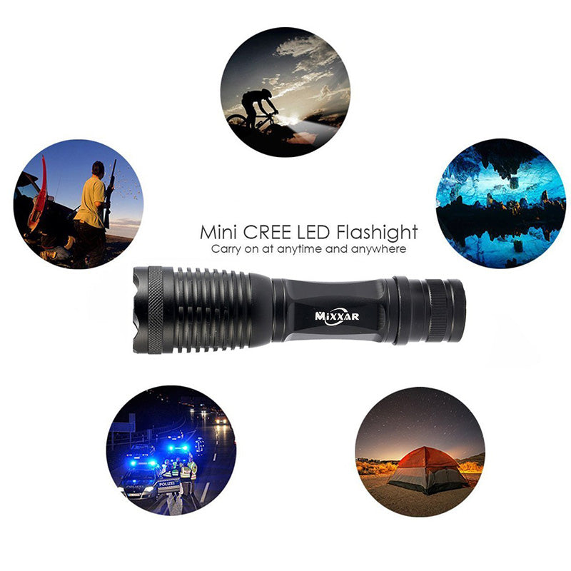 Costbuys  C-10 CREE XM-L2 9500LM lumens LED Flashlight Zoomable T6 LED torch lantern Super Bright Waterproof Portable flashlight