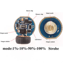C8S 5 Modes Circuit Board Anti-reverse LED Driver Chip mode memory function 20.8mm