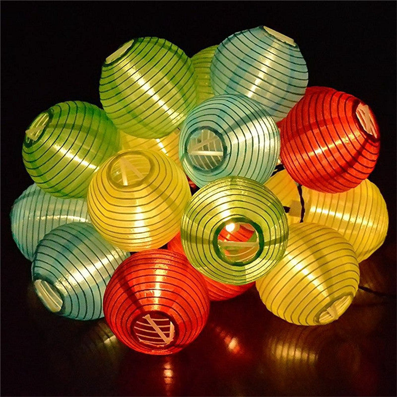 Costbuys  Lantern Ball Solar String Lights IP65 solar outdoor lamp Waterproof led lamp solar for party Garden deck Solar light -