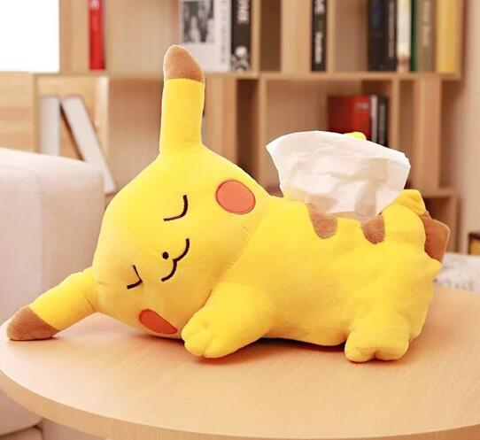 Costbuys  Cartoon animal anime pikachu tissue case box cover rest pillow sleeping cushion blanket 1pc Dolls & Plush - tissue box