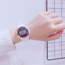 Candy Silicone Lovers Men Women Watches LED Digital Watch Ladies Electronic Wristwatches Creative Calendar Female Sports Watches