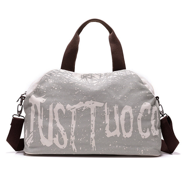 Costbuys  Canvas Letter Printing Sports Bag Fitness Handbags Shoulder Training Bags Outdoor Sports Gym Bag Fitness Duffle Bolsa