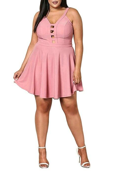Lan Karswear  Short Plus Size Women's Summer Beach Dresses Women Party Night