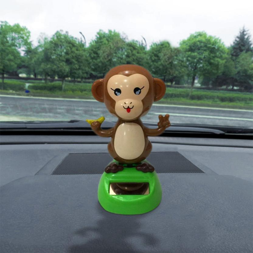 Costbuys  Car Interior Accessories 1pcs Solar Powered Dancing Animal Swinging Animated Bobble Dancer Toy Car Decoration