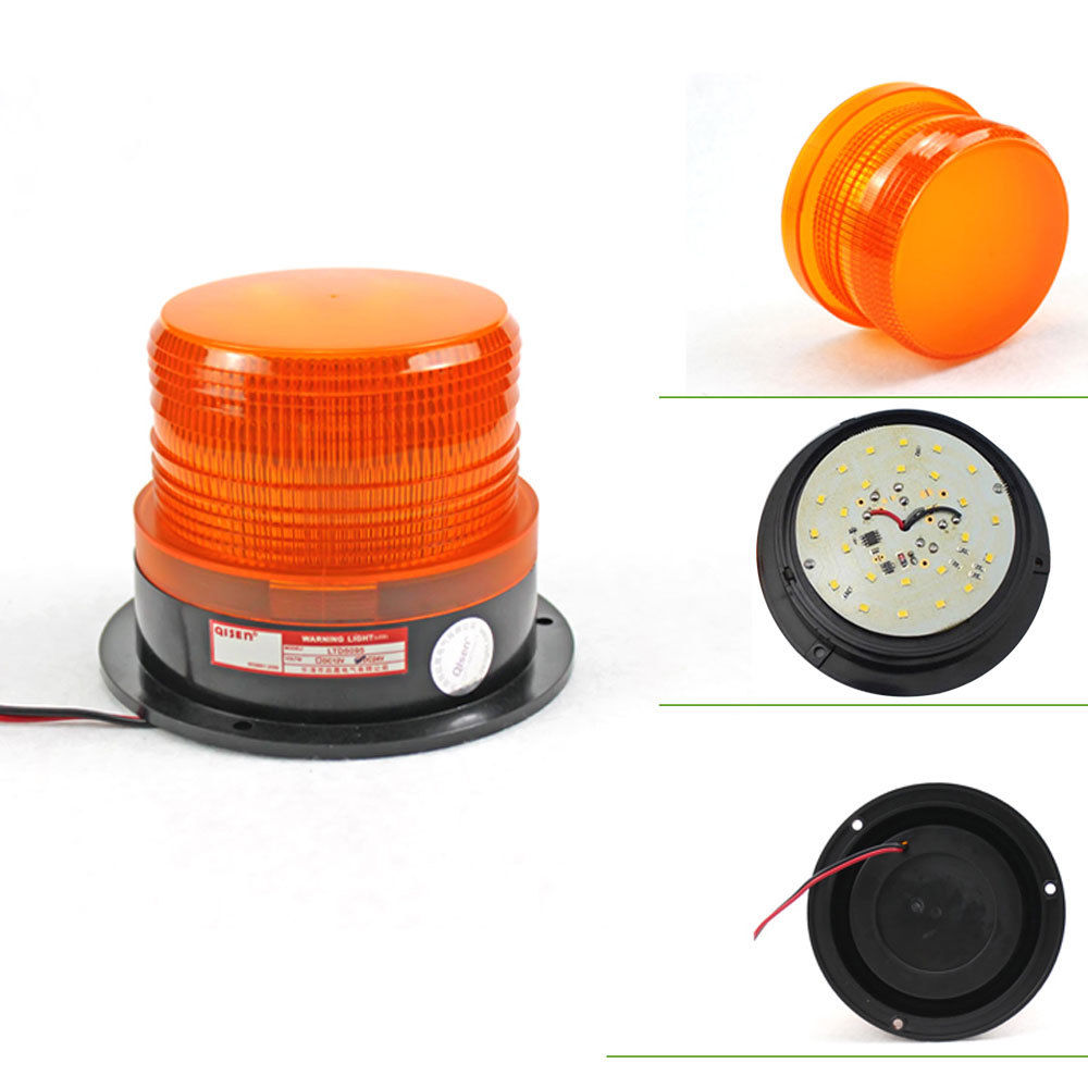 Costbuys  Car LED Accessories Car Bus Top Roof Beacon Strobe Emergency Warning Flash Light Amber DC12V/24V Fit for Universal Car
