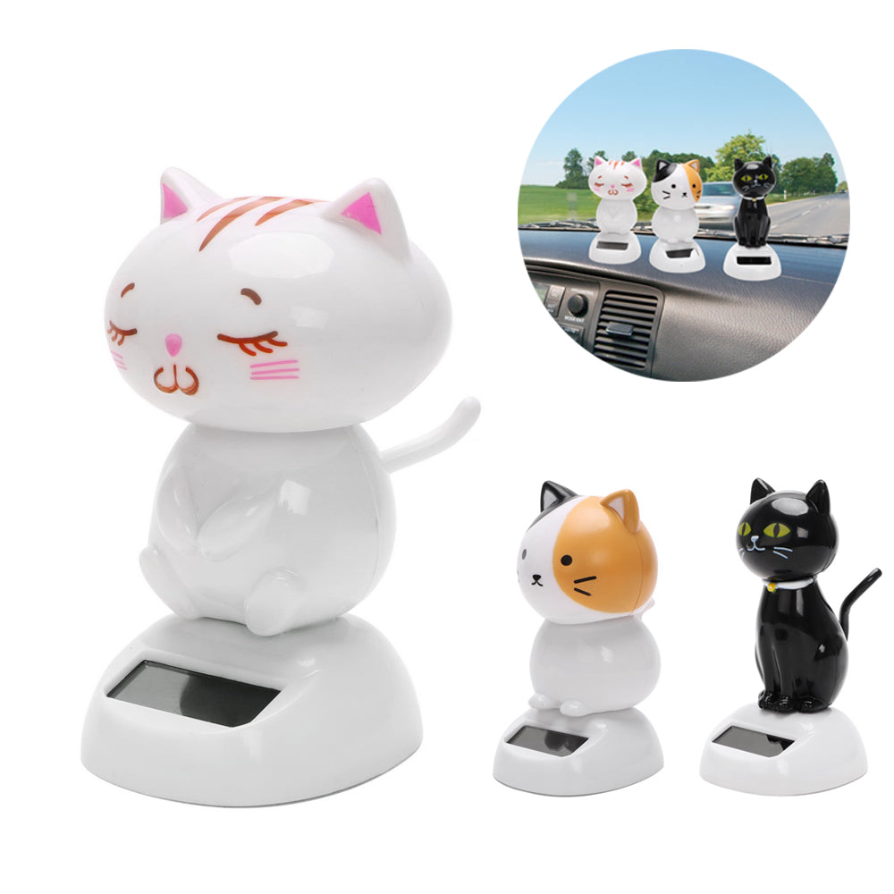 Costbuys  Car Ornaments Solar Powered Swinging Cat Dashboard Decoration Car-styling Interior Accessories ABS Bobble Dancer Toy -