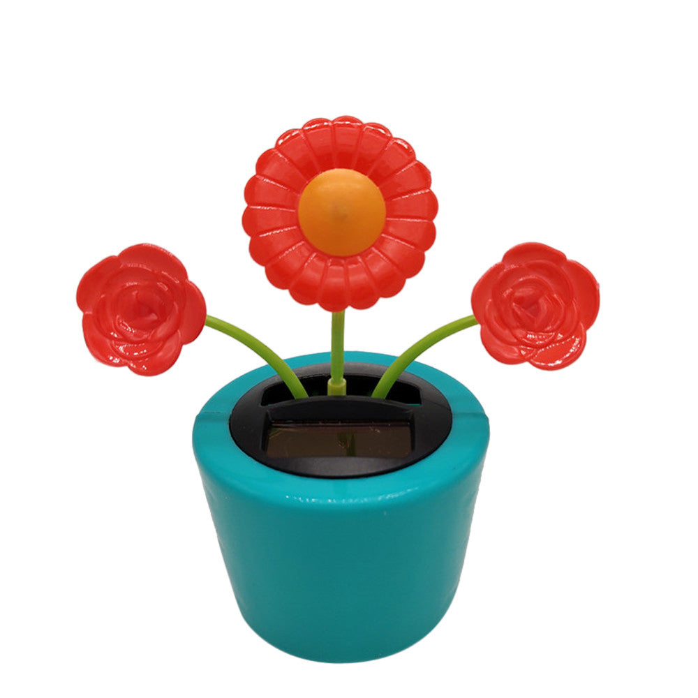 Costbuys  Car Solar Powered Dancing Flower Swinging Animated Dancer Toy Car Decoration New Ornaments Accessories - D