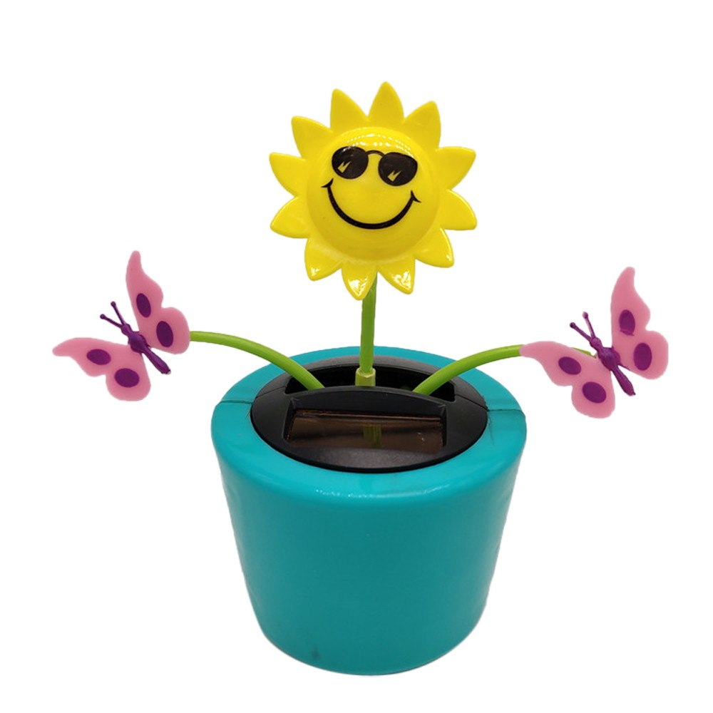 Costbuys  Car Solar Powered Dancing Flower Swinging Animated Dancer Toy Car Decoration New Ornaments Accessories - E