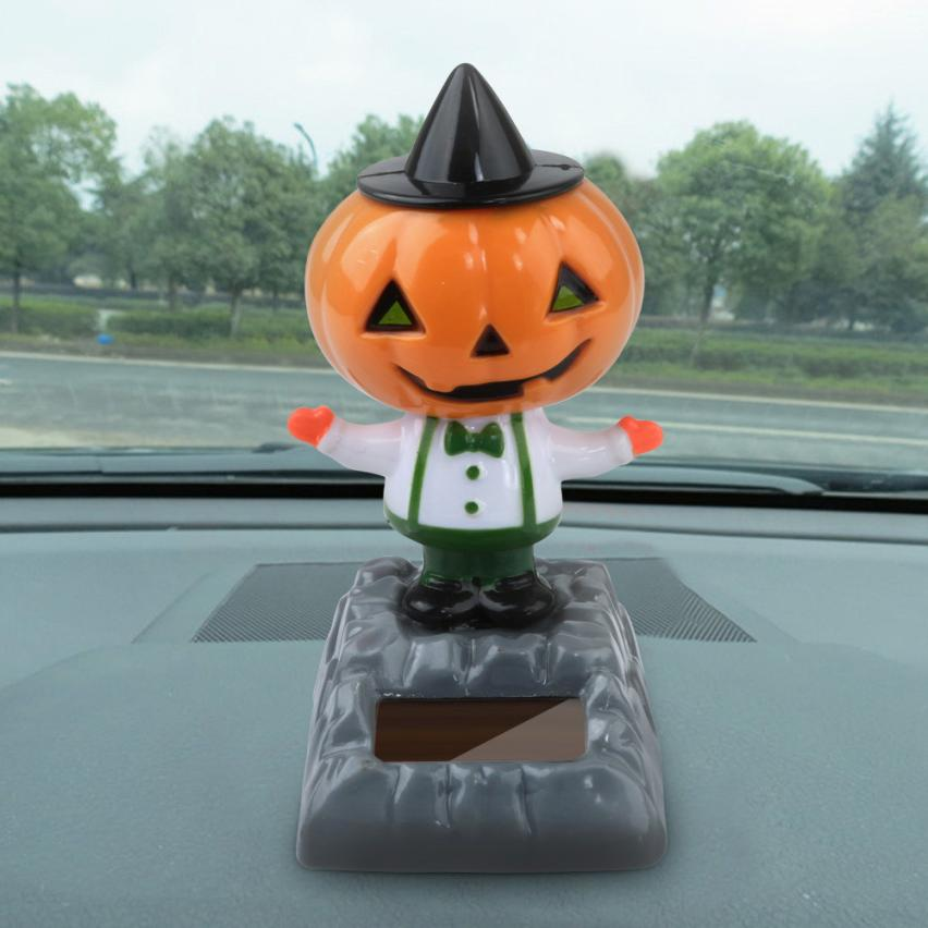 Costbuys  Car-styling AUTO Solar Powered Dancing Halloween Swinging Animated Bobble Dancer Toy Car Decor - C