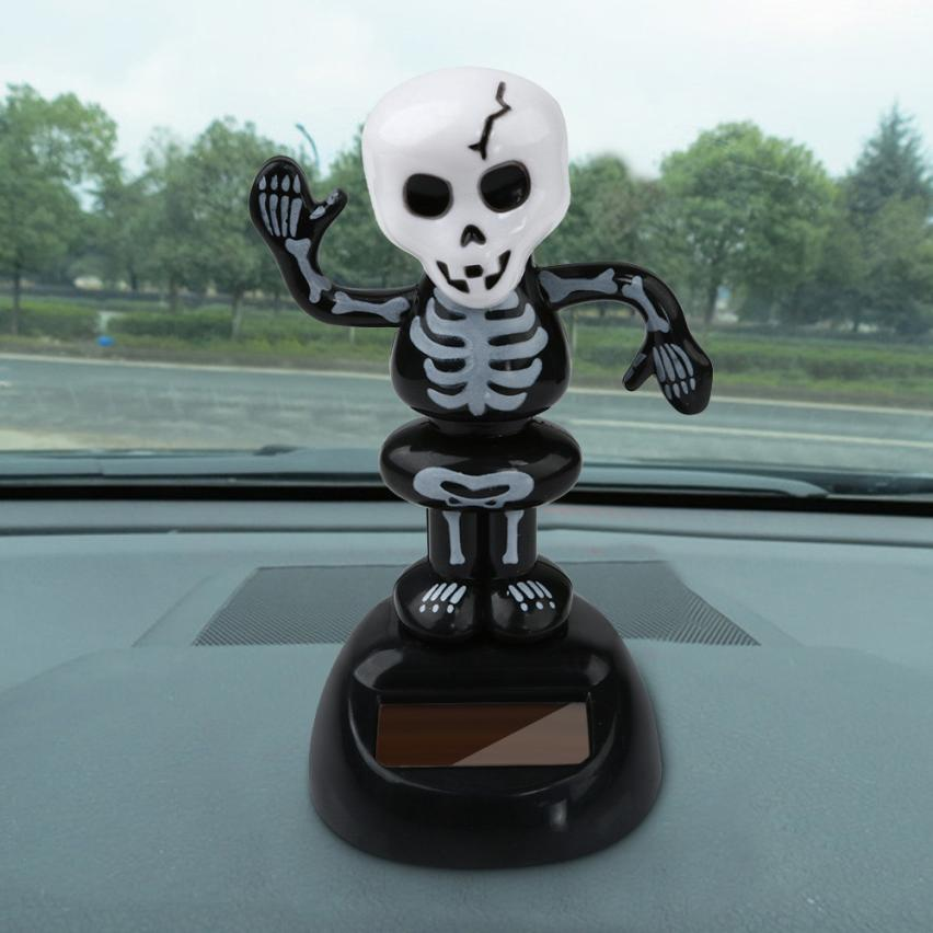 Costbuys  Car-styling AUTO Solar Powered Dancing Halloween Swinging Animated Bobble Dancer Toy Car Decor - A
