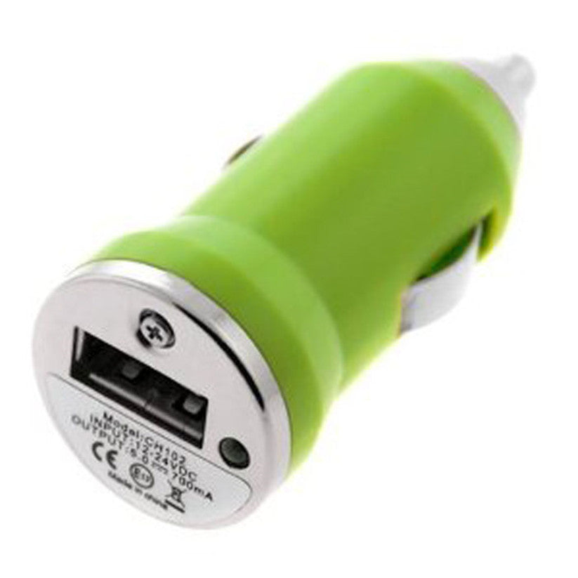 Costbuys  Car-styling mp3 usb adapter car-charger USB Car Charger for Apple iPhone iPod Nano Mini MP4 MP3 PDA - green