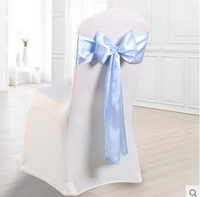 chair cover ribbon decoration flower ribbon bow bandage wedding