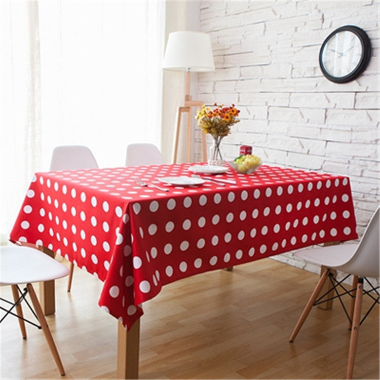 Cheap Price Japanese Style Polka Dot Table Cloth Red Green Tablecloth For  Dining Room