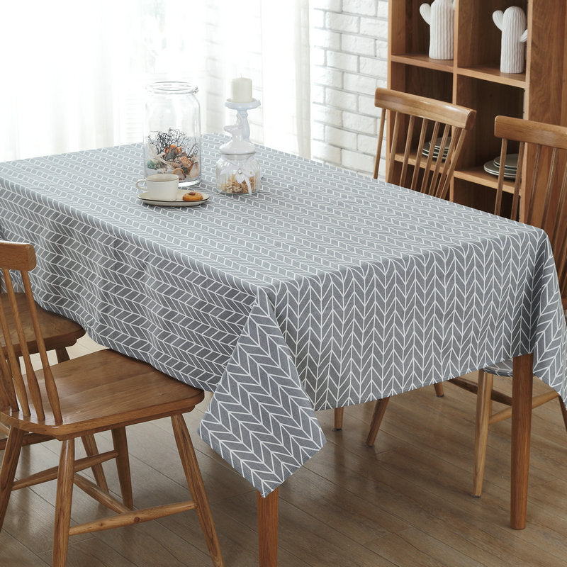 Costbuys  Cheap Price Modern Style Table Cover Canvas Gray Table Cloth for Restaurant Home Hotel Conference Table - Dark Grey /