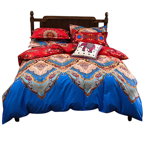 Costbuys  Chinese Comforter Set Duvet Cover Sets Country Quilts Cover Set Cotton Reversible Bedding Set Queen Size Or King Size