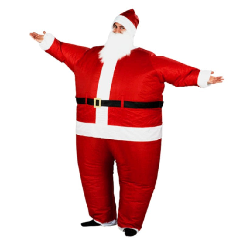 christmas gift cosplay inflatable costume for men women christmas dress fan funny santa claus inflatable costume