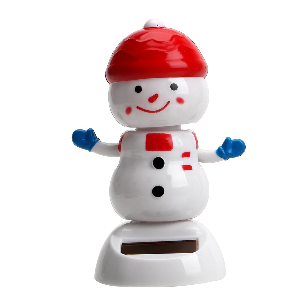 Costbuys  Christmas Snowman Dashboard Decoration Solar Powered Dancing Toy Cute Swinging Bobble Doll Car Ornament Interior Acces