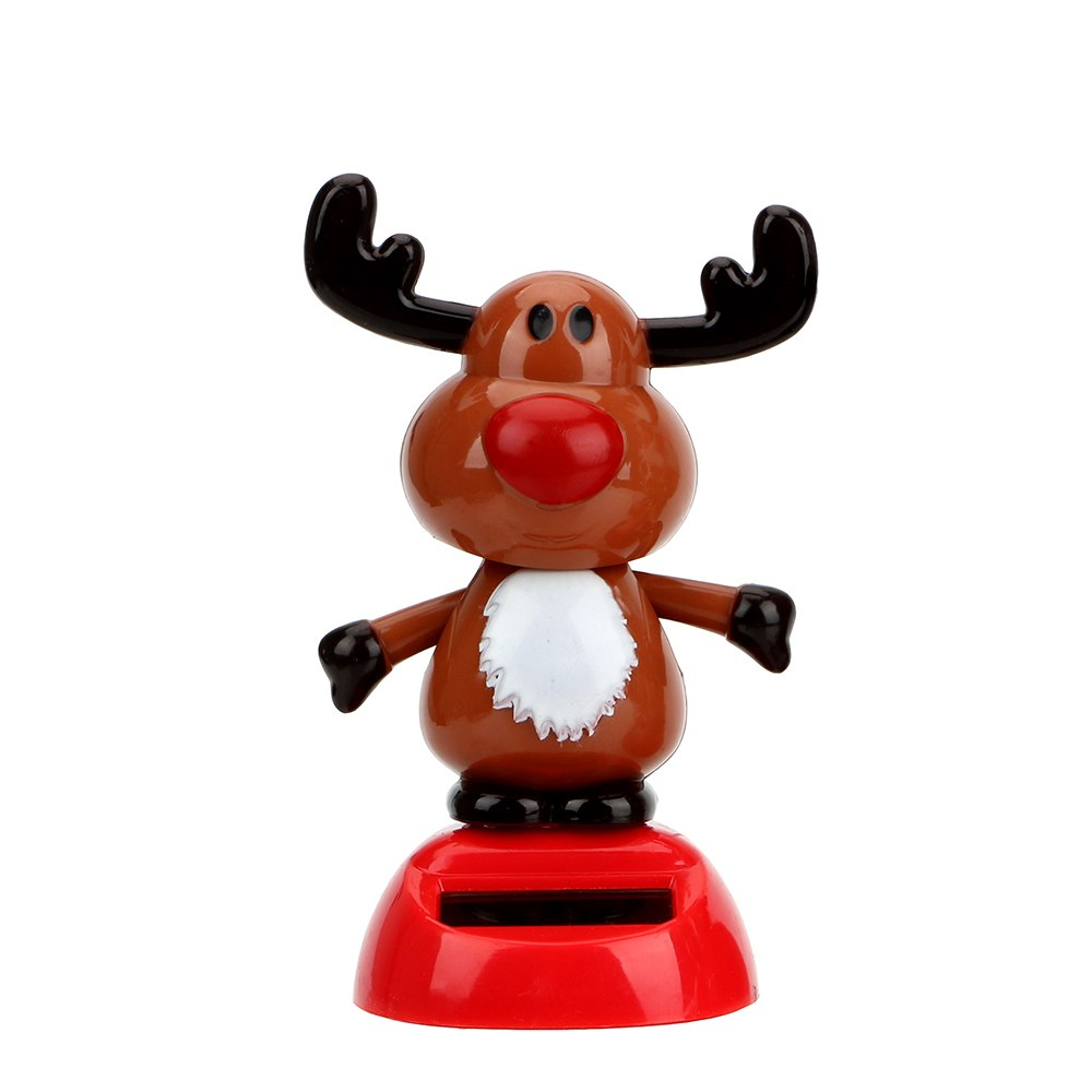 Costbuys  Christmas Style Car Styling Dashboard Decoration Elk Car Ornament Solar Powered Dancing Toy With Self-adhesive - A