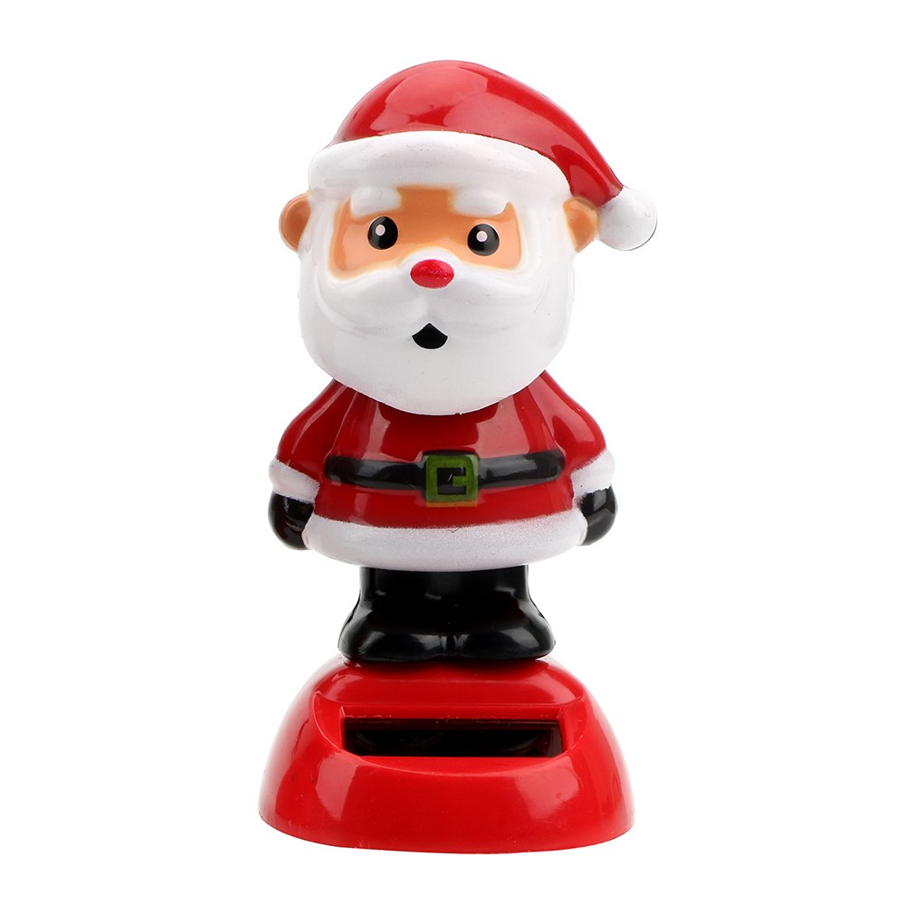 Costbuys  Christmas Style Solar Powered Dancing Toy Swinging Santa Claus Car Ornament Auto Accessories Dashboard Decoration - C
