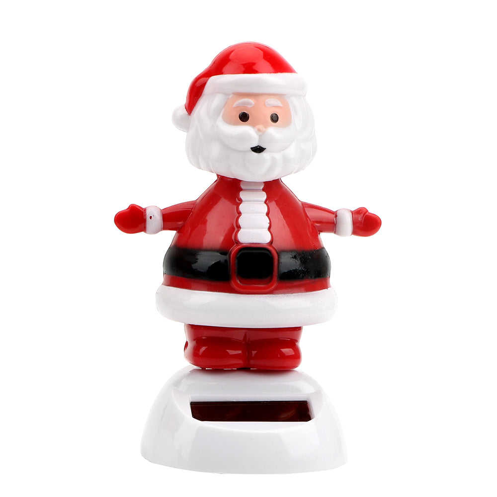 Costbuys  Christmas Style Solar Powered Dancing Toy Swinging Santa Claus Car Ornament Auto Accessories Dashboard Decoration - E